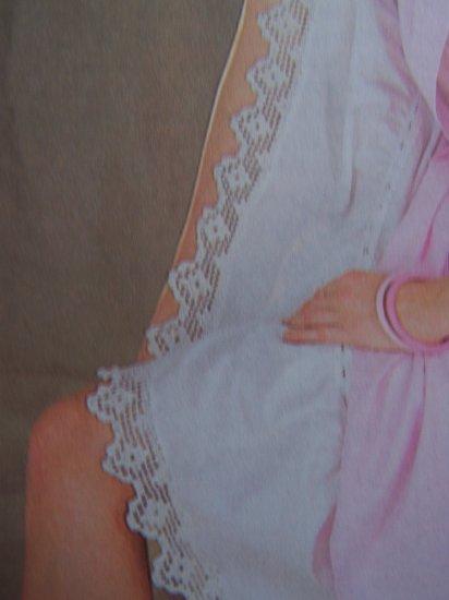 Vintage Crochet Pattern Filet Lace Slip Edging USA 1 Cent S&H