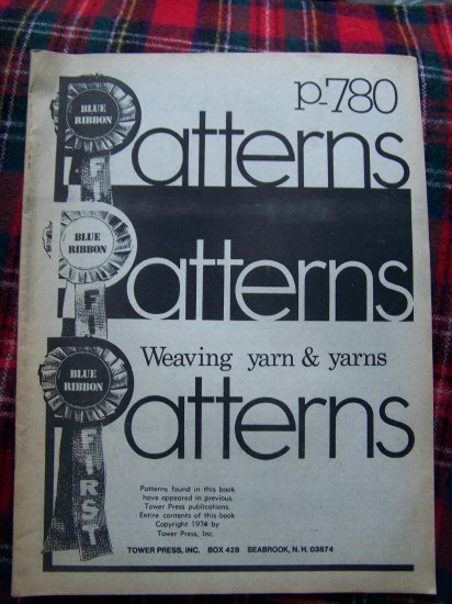 Vintage Blue Ribbon Patterns P 780 Weaving Yarn and Yarns Craft Techniques