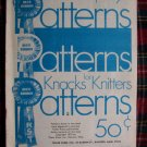 1970's Vintage Blue Riibbon Patterns Knacks For Knitters Learn a Stitch Knitting