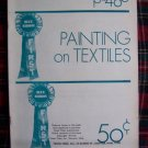 Vintage Painting on Textiles Stencil Booklet Blue Ribbon