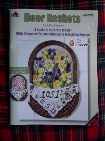 Folk Art Door Baskets Wood Patterns Decorative Painting 9716 Kathy Sweeney