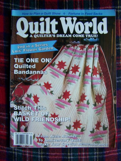July 1992 Quilt World Back Issue Quilting Pattern Magazine