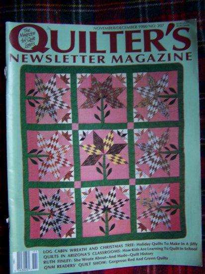 Vintage Quilters Newsletter Pattern Magazine Nov Dec 1988 Quilting Patterns