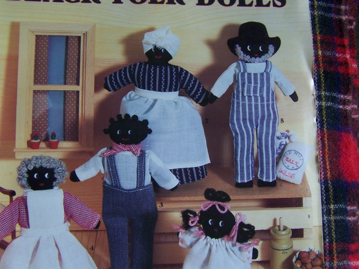 1 Cent USA S&H Black Folk Art Dolls and Clothing Sewing Pattern Mammy Family