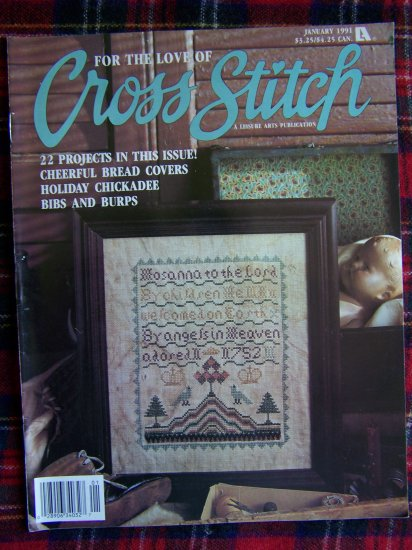 For the Love of Cross Stitch Patterns Back Issue Magazine January 1991 Projects 22