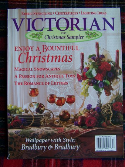 Christmas Victorian Sampler Magazine Back Issue 1993