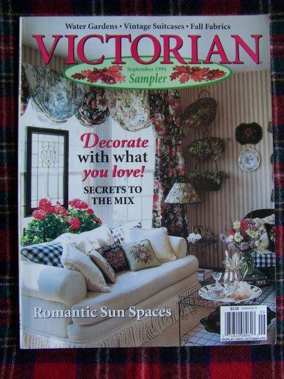 Victorian Magazine Fall Sampler September 1994 Back Issue OOP