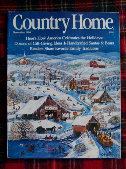 Country Home Magazine Christmas December 1990 Ideas Back Issue