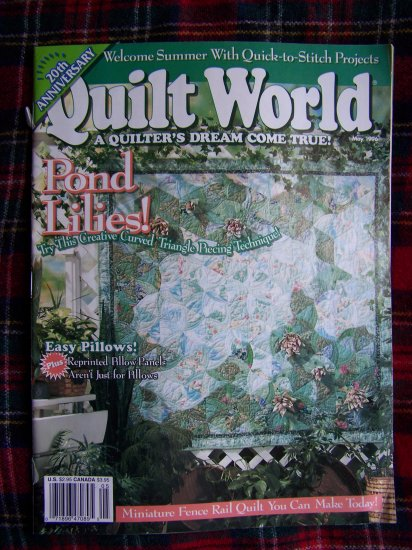 Quilting Magazine Quilt World May 1996 20th Anniversary Quilts Patterns