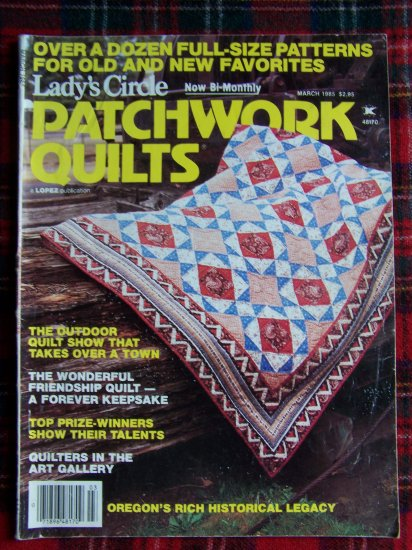 Vintage Patchwork Quilt Pattern Magazine 12 Quilting Patterns March 1985