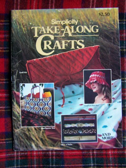 Vintage 1980s Simplicity Take Along Crafts Patterns Smocking Quilting Crochet Needlepoint