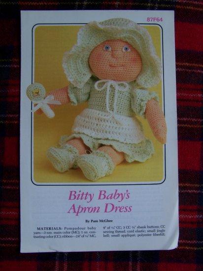 1 Cent USA S&H Vintage Bitty Baby's Apron Dress Bonnet Rattle Annie's Attic