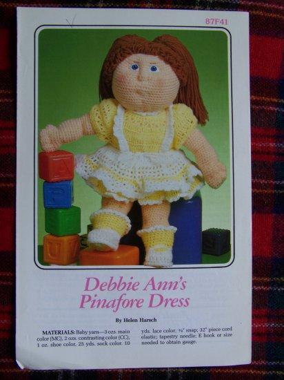 USA 1 Cent S&H Vintage Annie's Attic Crochet Pattern Debbie Ann's Pinafore Dress