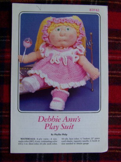 Annies Attic Crochet Doll CLothing Pattern Dress Panties SHoes 1 Cent USA Shipping