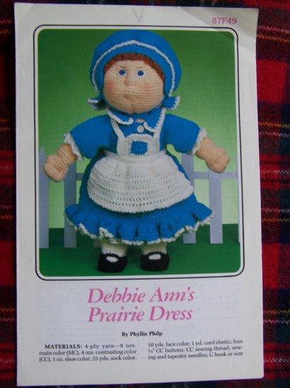 USA 1 Cent S&H Special Vintage Annie's Pattern Soft Sculpture Doll Prairie Dress Clothing