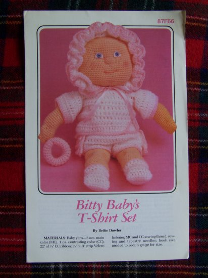 USA 1 Cent Shipping Vintage Baby Doll Crochet Clothing Pattern Annie's 87F66