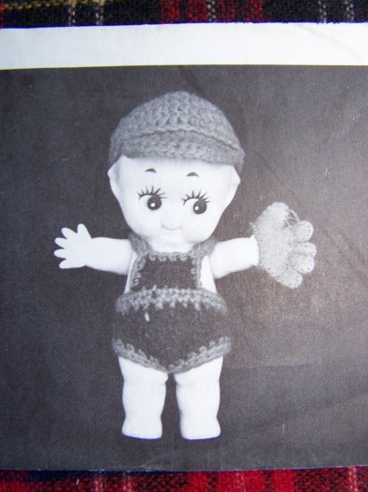 USA 1 Cent S&H Vintage 70's Annie's Attic Doll Clothing Crochet Pattern Tuffy