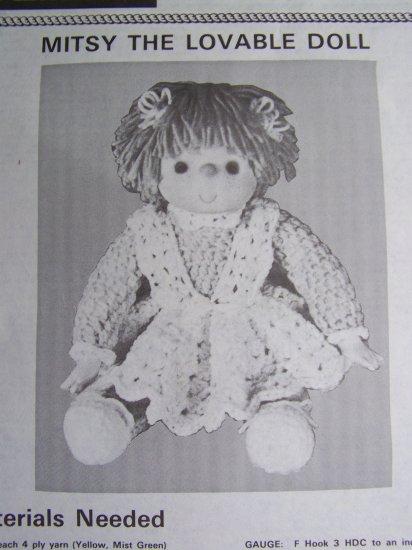 S&H 1 Cent USA Vintage Crochet Pattern Misty The Lovable Doll