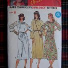 Vintage Sewing Pattern Flowing Dress Band Neck 10 12 14 Easy B 6119 Uncut