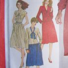 Vintage Sewing Pattern Pullover Dress Unlined Jacket Sz 14 Bust 36 S 5166