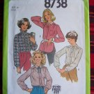 USA 1 Cent Shipping Set of Four 70's Vintage Blouse Sewing Patterns Bust 36 S 8738