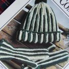 USA 1 Cent S&H Leisure Arts Crochet Pattern Cozy Combo Hat & Mittens Adult Size
