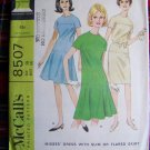 USA 1 Cent S&H 1960's Dress Sewing Pattern Wiggle or Flared Skirt SZ 16 McCall's 8507