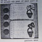 Vintage Crochet Pattern Drew's Drawer Plate Mate Baskets Butterflies Placemat & Coasters Set