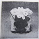 Vintage Flowers Crochet Pattern Kitchen Appliance Retro Can Opener Cover