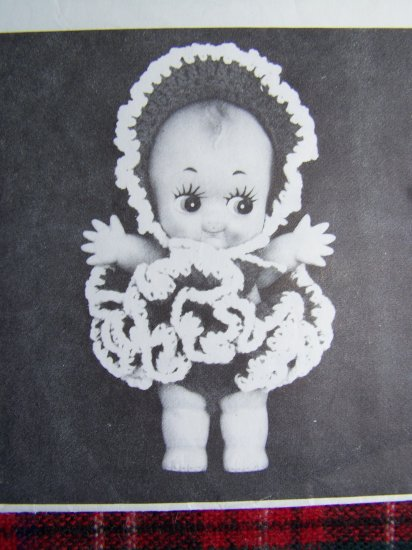 USA 1 Cent S&H Vintage 70's Annie's Attic Crochet Pattern Taffy Doll Dress