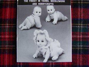 Vintage Mary Maxim Crochet & Knitting Patterns Crawling Baby Doll CLothing 159