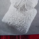 USA 1 Cent Shipping Mary Maxim Vintage Crochet Pattern Square Pillow 1632