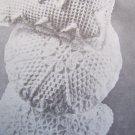 "USA 1 C S&H Mary Maxim Vintage Crochet Pattern Round Pillow 14""  1634"