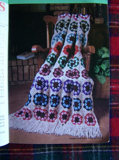 1 Cent USA S&H Hooked on Crochet 7 Best Afghan Patterns Book Crocheting Pattern
