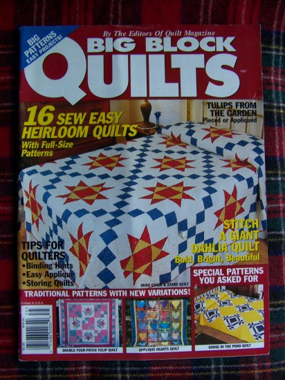 1997 Big Block Quilts Back Issue Pattern Magazine Quilting Patterns