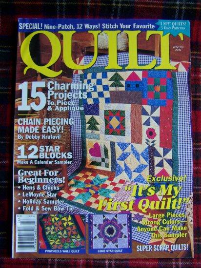 Winter 2000 Quilt Pattern Magazine Quilting Patterns Ideas Instructions