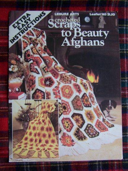 Vintage Crochet Scraps Afghans Easy Patterns Kaleidoscope Tier Drop Ribbons of Color
