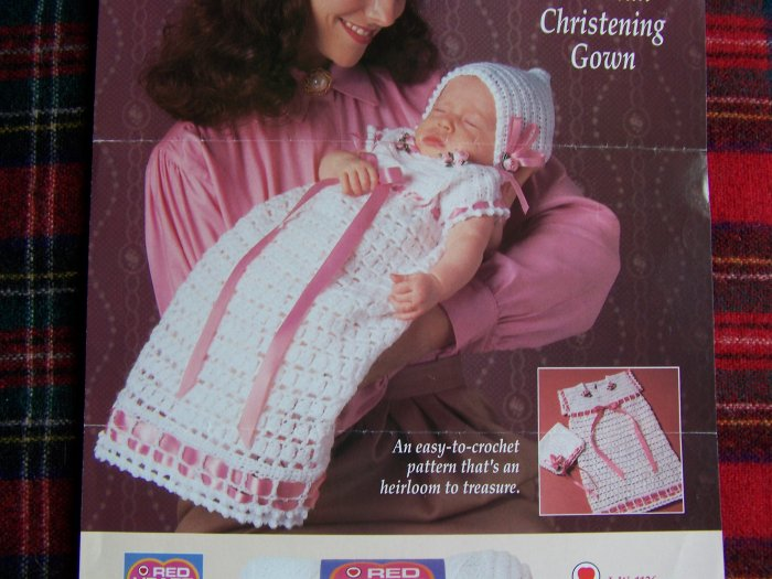 USA 1 Cent S&H Victorian Crochet Christening Gown Dress Pattern and Toy Patterns