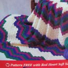 Penny S&H USA  Crochet Pattern Bargello Afghan Beginners Crocheting