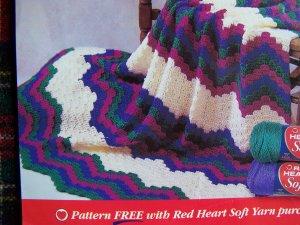 Penny S&H USA  Crochet Pattern Bargello Afghan Beginners Crocheting