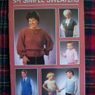Vintage 1980's Annie's Attic Sweater Pattern Book Baby Child's Misses Men's Sizes