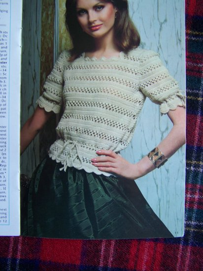 Vintage 1980's Misses Sz 10 - 20 Easy Knitting & Crocheting Patterns Sweaters Tops