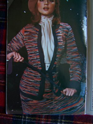 Vintage 1970's Knitting & Crocheting Tops Blouses SKirts 2 Pc Dress