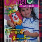 August 1990 Crochet World Pattern Magazine 20 + Crocheting Patterns