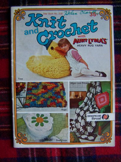 USA 1 Cent S&H Vintage Knitting and Crochet Pattern Star Book 218 Crocheting Patterns