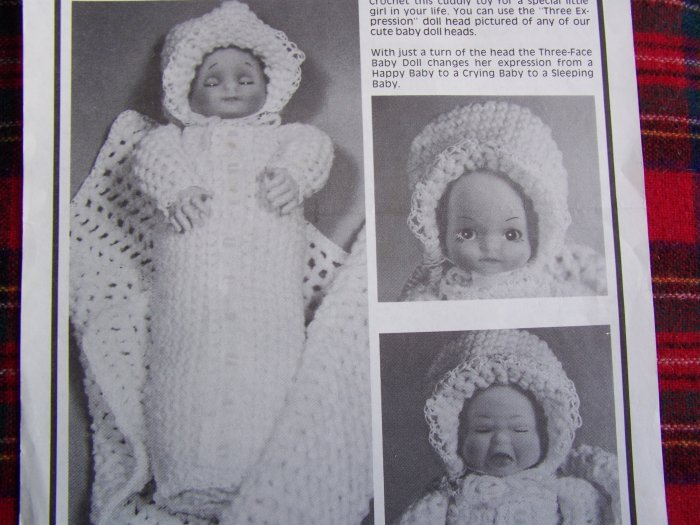 USA 1 Cent S&H Vintage Crochet Pattern Crochet Baby Doll & Clothing
