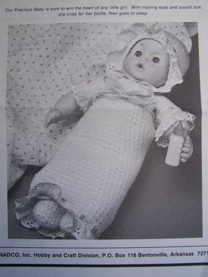 Vintage Crochet Pattern Precious Baby Doll & Clothing USA 1 Cent Shipping