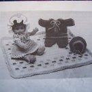 Vintage Doll Clothes Patterns Dress Ruffle Panties Bonnet Snowsuit Hat Blanket