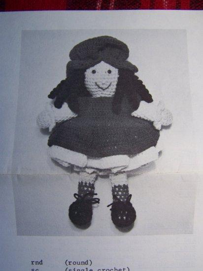 USA 1 Cent S&H Vintage Crochet Pattern Stitch N Stuff Cherri Cheesecake Stuffed Doll