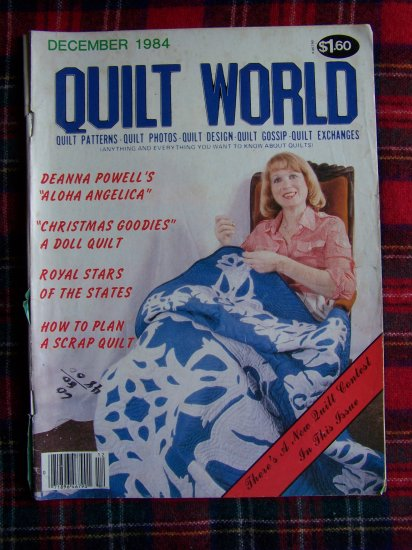 Vintage Quilt World December 1984 Quilting Patterns Magazine